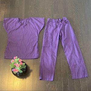 Other - Purple Cotton Scrub Set